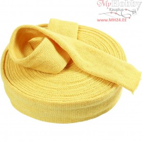 Knitted Tube, W: 60 mm, yellow, 50cm