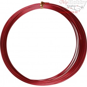 Aluminium Wire, thickness 1 mm, red, round, 16m