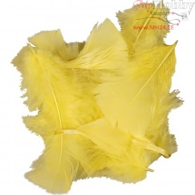 Feathers, size 7-8 cm, yellow, 500g