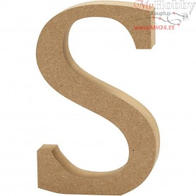 Letter, S, H: 13 cm, thickness 2 cm, MDF, 1pc