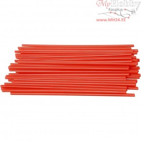 Construction Straw, L: 12,5 cm, D: 3 mm, red, 800pcs