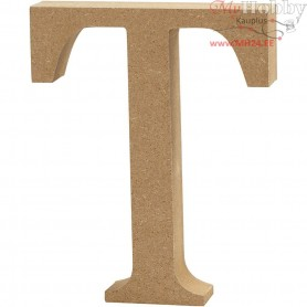 Letter, T, H: 13 cm, thickness 2 cm, MDF, 1pc