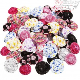 Mini Hats, D: 4 cm, asstd colours, 100mixed