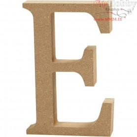 Letter, E, H: 13 cm, thickness 2 cm, MDF, 1pc