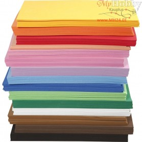 EVA Foam Sheets, A4 21x30 cm, thickness 2 mm, 15x10sheets