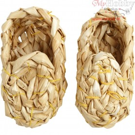 Straw Shoes, L: 7 cm, 1pair