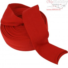 Knitted Tube, W: 80 mm, christmas red, 10m