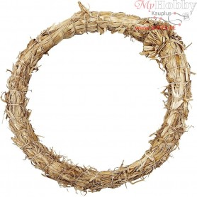 Straw Wreath , D: 21 cm, thickness 2 cm, 1pc