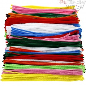 Pipe Cleaners, thickness 4+6+9 mm, L: 30 cm, asstd colours, 700mixed