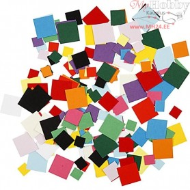 Card Mosaics, size 10+15+20 mm, square, 180g
