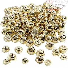 Bells, D: 13+15+17 mm, gold, 220mixed