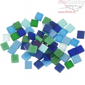 Mini Mosaic, size 5x5 mm, thickness 2 mm, blue/green harmony, 25g