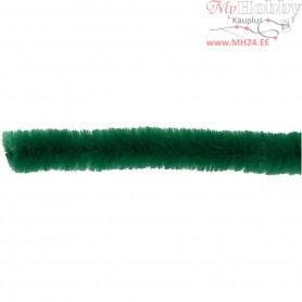 Pipe Cleaners, thickness 6 mm, L: 30 cm, dark green, 50pcs