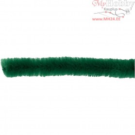 Pipe Cleaners, thickness 9 mm, L: 30 cm, dark green, 25pcs