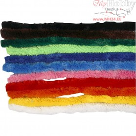 Pipe Cleaners, thickness 15 mm, L: 30 cm, asstd colours, 200mixed
