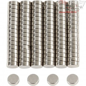 Power Magnets, D: 5 mm, thickness 2 mm, 100pcs