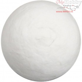 Compressed Cotton Ball, D: 20 mm, white, cotton, 300pcs