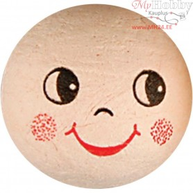 Compressed Cotton Faces, D: 30 mm, 10pcs