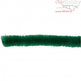 Pipe Cleaners, thickness 15 mm, L: 30 cm, dark green, 15pcs
