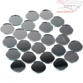 Mirror Mosaic Tiles, D: 18 mm, thickness 2 mm, round, 400pcs