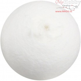 Compressed Cotton Ball, D: 40 mm, white, cotton, 100pcs