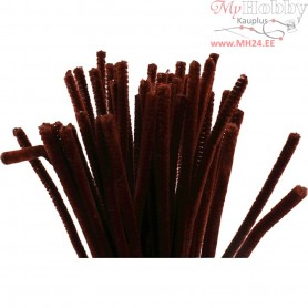 Pipe Cleaners, thickness 6 mm, L: 30 cm, antique red, 50pcs