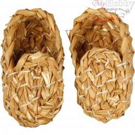 Straw Shoes, L: 8 cm, 1pair
