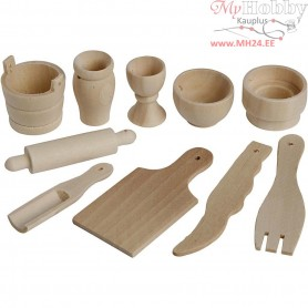Kitchen Tools, L: 40-60 mm, birch, 50pcs