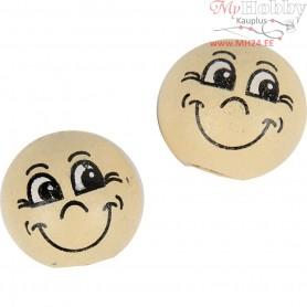 Heads, D: 12 mm, wood, 20pcs