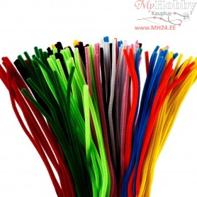 Pipe Cleaners, thickness 6 mm, L: 45 cm, asstd colours, 200mixed