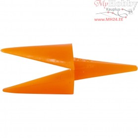 Chicken Beaks, L: 30 mm, orange, 50pcs