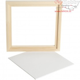 Framed Canvas Panel, outer size 20,2x20,2 cm, depth 1,5 cm, Canvas Panel 17.4x17.4 cm, 1pc
