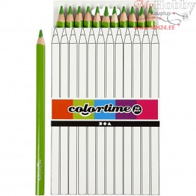 Colortime colouring pencils, lead: 5 mm, light green, Jumbo, 12pcs