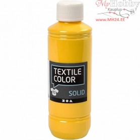 Textile Solid, yellow, Opaque, 250ml
