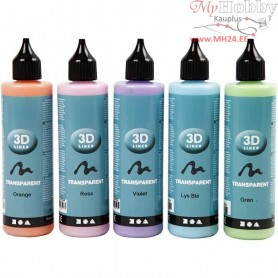 3D Liner, transparent colours, 5x100ml
