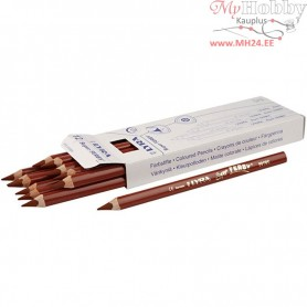 Super Ferby 1 colouring pencils, lead: 6,25 mm, L: 18 cm, light brown, 12pcs