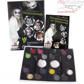 Water Makeup Set with step-by-step, asstd colours, halloween, 1set