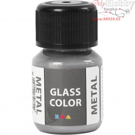 Glass Color Metal, silver, 35ml