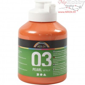 A-Color Acrylic Paint, orange, 03 - metallic, 500ml
