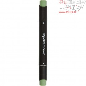 Stylefile Marker, line width: 1+2+7 mm, L: 15,3 cm, deep olive green, 1pc