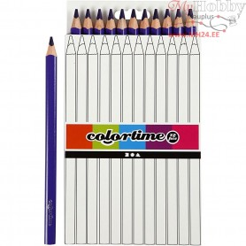 Colortime colouring pencils, lead: 5 mm, purple, Jumbo, 12pcs