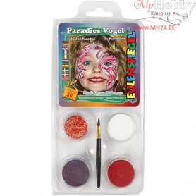 Eulenspiegel Face Paint - Motif Set, asstd colours, paradise bird, 1set