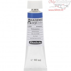 Schmincke AKADEMIEĀ® Acryl color, phthalo blue (448), transparent, , 60ml