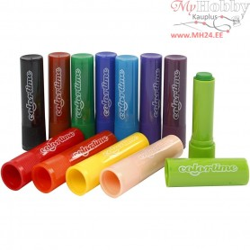 Soft Color Stick,  6,5 g, L: 8 cm, 120pcs