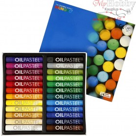 Mungyo Oil Pastel, thickness 11 mm, L: 7 cm, asstd colours, 24pcs