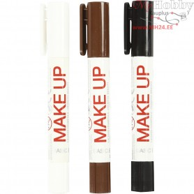 Playcolor Make Up, brown, white, black, pirate, 3x5g