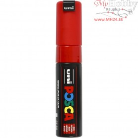 Uni Posca Marker, line width: 8 mm,  PC-8K , red, broad, 1pc