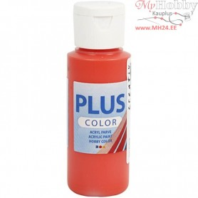 Plus Color Craft Paint, brilliant red, 60ml