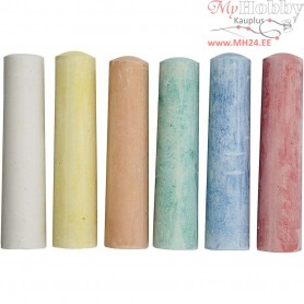 Sidewalk Chalk, asstd colours, 6pcs