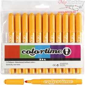 Colortime Marker, line width: 5 mm, warm yellow, 12pcs